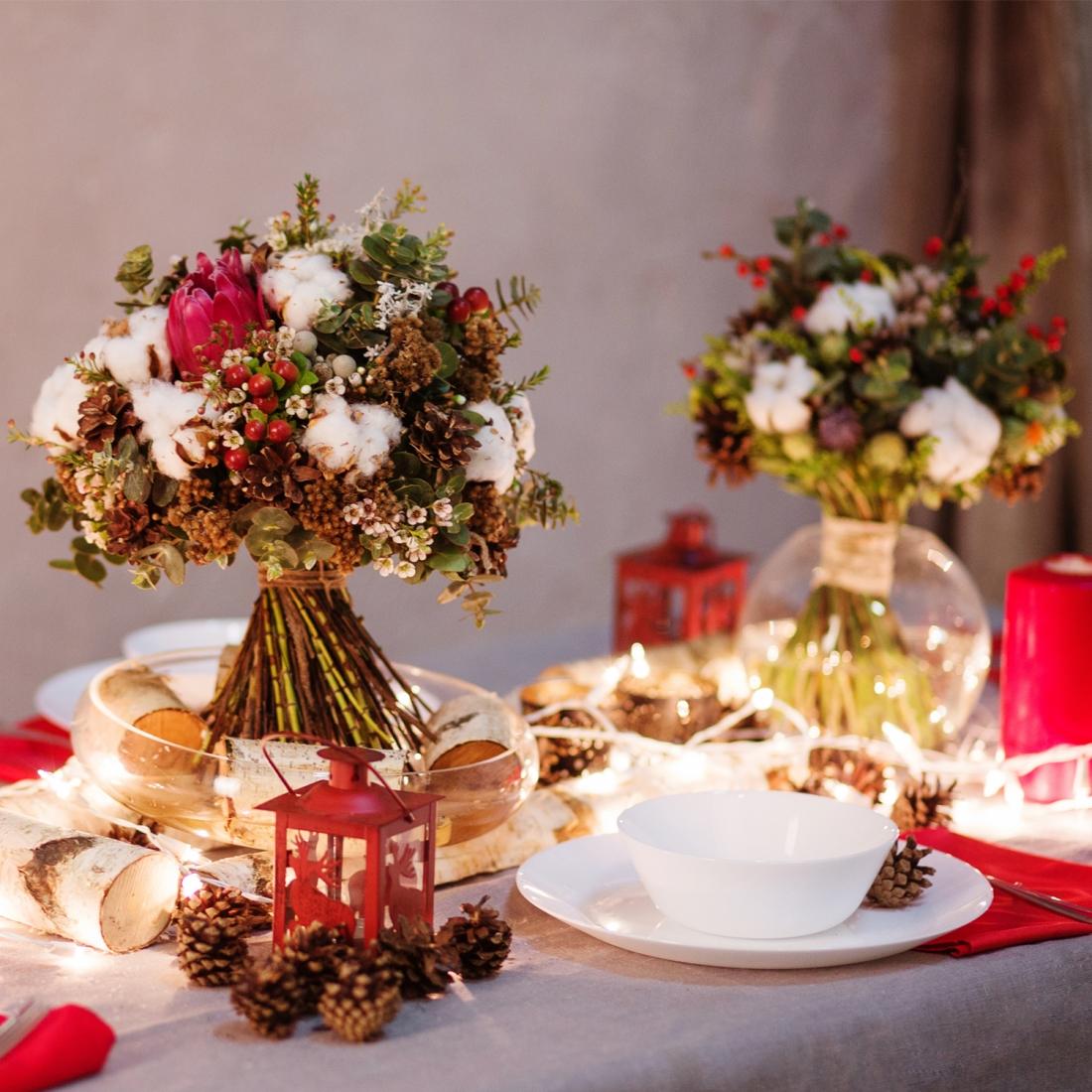 Creare Composizioni Per Natale come realizzare un centrotavola per natale