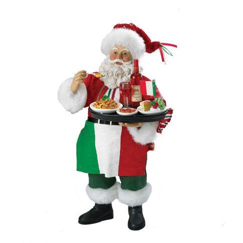 Babbo Natale Musicale.Babbo Natale Musicale In Stile Italiano 27 Cm In Resina Kurt S Adler