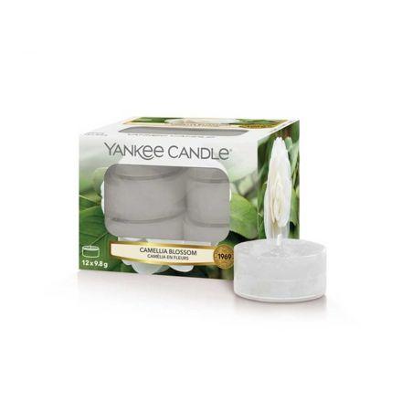 12 CANDELE PROFUMATE CLASSIC TEA LIGHTS CAMELLIA BLOSSOM