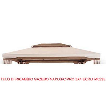 TELO DI RICAMBIO GAZEBO NAXOS/CIPRO 3X4 ECRU' M0535