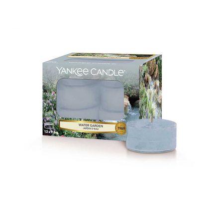 12 CANDELE PROFUMATE CLASSIC TEA LIGHTS WATER GARDEN