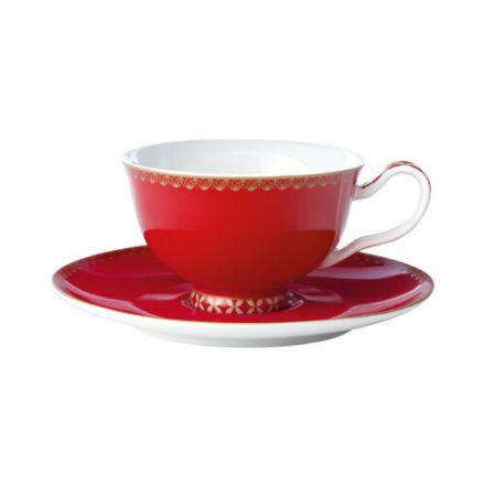 SET TAZZA DA TE' C/ PIATTO TEAS&C'S CLASSIC 200ML ROSSO CILIEGIA